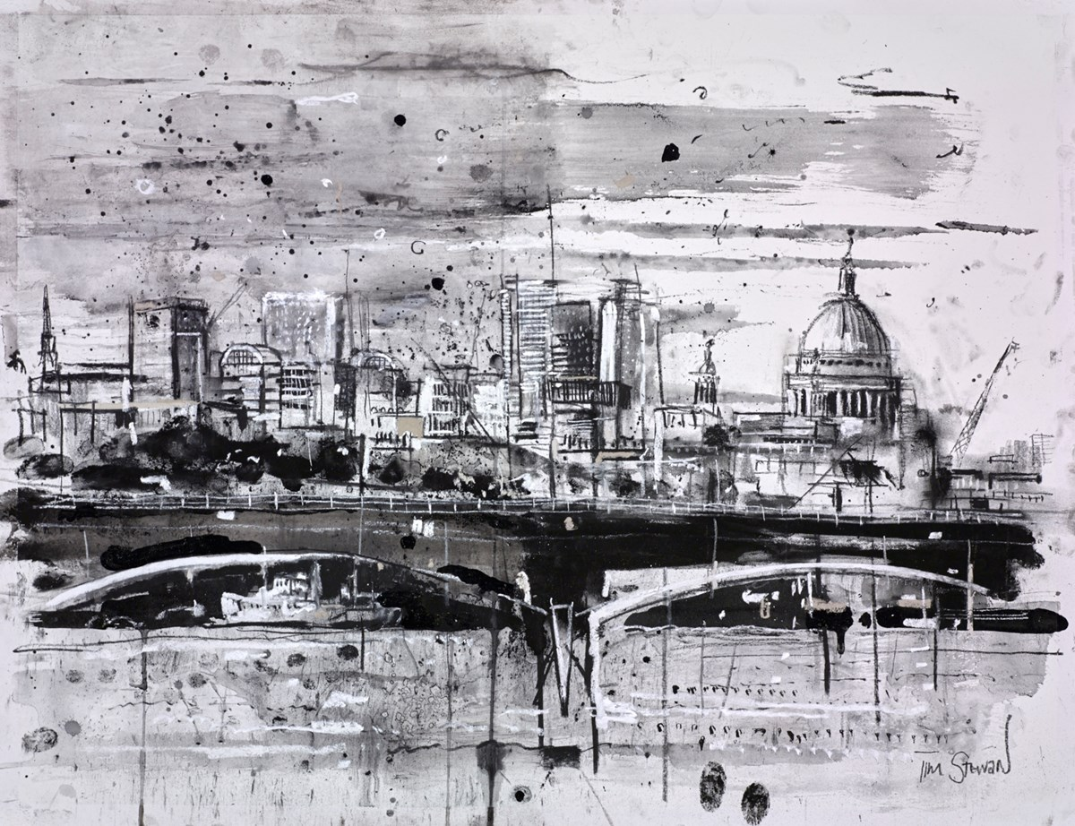 St Paul's and Waterloo Bridge, London by tim steward -  sized 26x20 inches. Available from Whitewall Galleries
